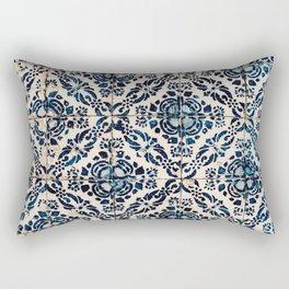 Azulejo IX - Portuguese hand painted tiles Rectangular Pillow