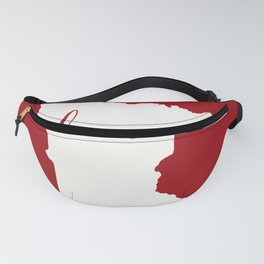 Minnesota is Home - White on Red Fanny Pack