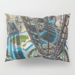 Dubai from the tallest building in the world Pillow Sham