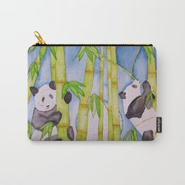 Playful Pandas by Moonlight Carry-All Pouch
