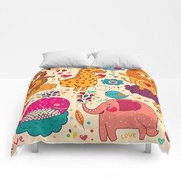 Animals in love Comforters