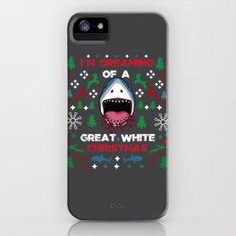 White Christmas Shark Ugly Cardigan Gift iPhone Case