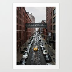 Iconic New York Taxi Art Print