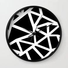 Ab Outline Thicker Black Wall Clock