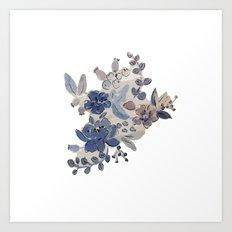 watercolor flower - 1 Art Print