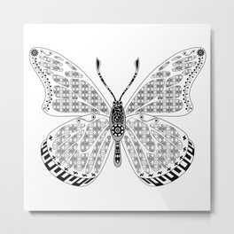 madame butterfly ecopop Metal Print