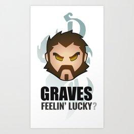 Graves w/ quote Art Print