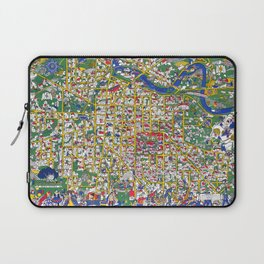 ANN ARBOR University map MICHIGAN dorm Laptop Sleeve