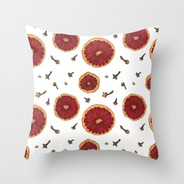 Winter Spiced Wine Throw Pillow