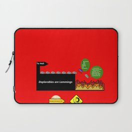 Deplorables are Lemmings Laptop Sleeve