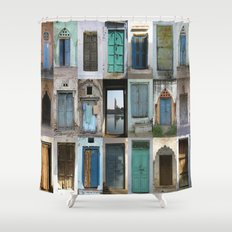 INDIA - Doors of India Shower Curtain