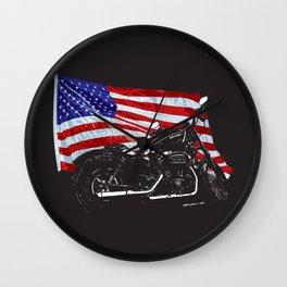 DARK HARLEY SPORTSTER MOTORCYCLE Wall Clock