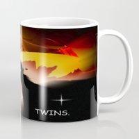 twins Mugs featuring Twins. by capricorn