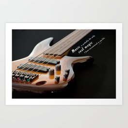 Music is Real Magic Art Print