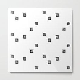Back and White Geometric 8 Metal Print