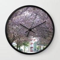 vienna Wall Clocks featuring amidst Vienna by MehrFarbeimLeben