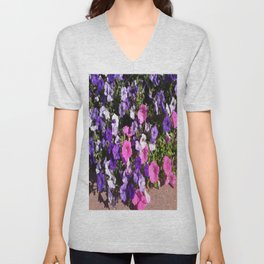 Petunia Patch Unisex V-Neck