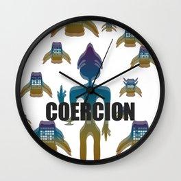 COERCION Wall Clock