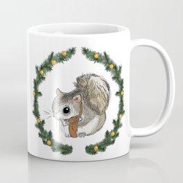 Siberian Squirrel in Holiday Wreath Coffee Mug