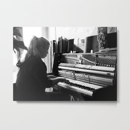 After tuning the Piano Metal Print