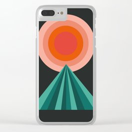 Way Decent - 70s retro throwback minimal sun california socal 1970's style Clear iPhone Case