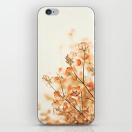 Orange Apricot Peach Coral Salmon Flower Photography, Floral Spring Tree Branches iPhone Skin
