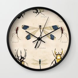 Les Insects Wall Clock
