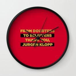 Klopp Champions Retro Wall Clock
