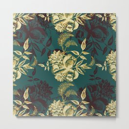 Illustrations of Florals Metal Print