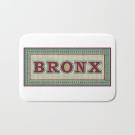 NY Subway Mosaic Bronx Borough Bath Mat