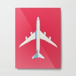 747-8 Jumbo Jet Airliner Aircraft - Crimson Metal Print