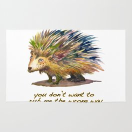 Pete the Porcupine Rug