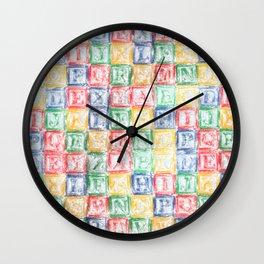 Children's Blocks Wall Clock