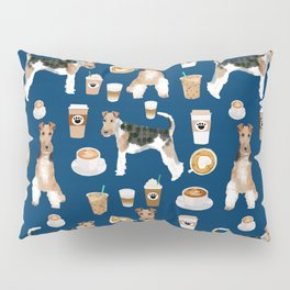 Wire Fox Terrier coffee dog pattern dog lover gifts for dog person dog breeds pet friendly Pillow Sham