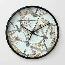watercolor dragonflies Wall Clock