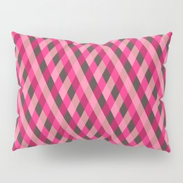 Retro pink geometry pattern Pillow Sham