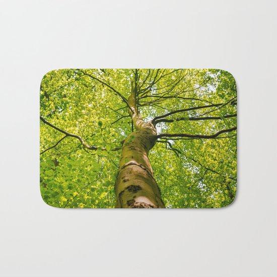 Sunlight Through Green Tree Crown Bath Mat