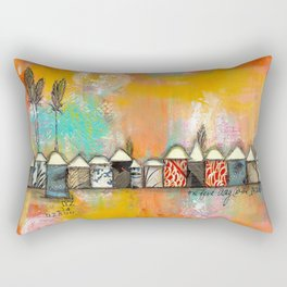 one fine day at the bach Rectangular Pillow