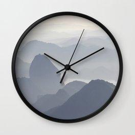 Rio de Janeiro Mountains Wall Clock