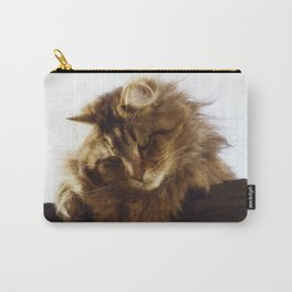 Curious Maine Coon Cat Carry-All Pouch