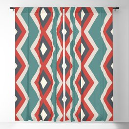 Geometric triangles shapes pastel retro cool colors Blackout Curtain