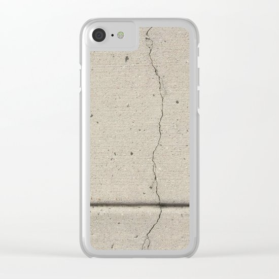 Real, Concrete, not Abstract Clear iPhone Case