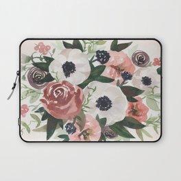 Anemone Berry Watercolor Bouquet Laptop Sleeve