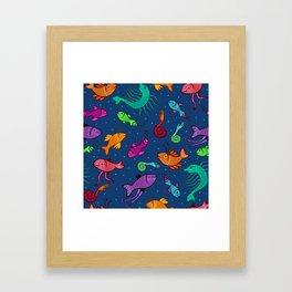 extraordinary sea creatures Framed Art Print