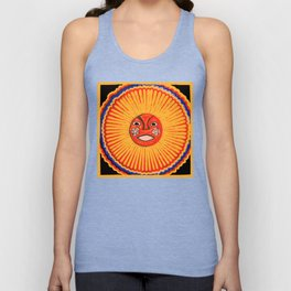 The sun Huichol art Unisex Tank Top