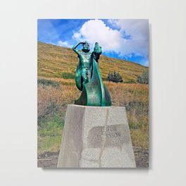 Eiríksstaðir Living Museum in West Iceland (1) Metal Print