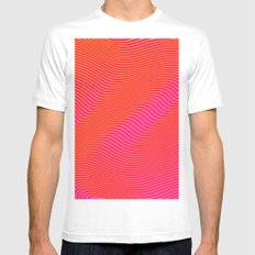 Fancy Curves MEDIUM White Mens Fitted Tee