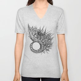 visual pattern of exotic lines Unisex V-Neck