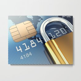 Safe and secure banking Metal Print