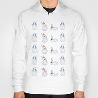 bunnies Hoodies featuring Punk Bunnies by Lisa Bulpin
